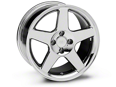 Chrome 2003 Style Cobra Wheel - 17x9 (87-93; Excludes 93 Cobra)