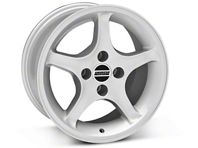 Silver 1995 Style Cobra R Wheel - 16x8 (87-93; Excludes 93 Cobra)