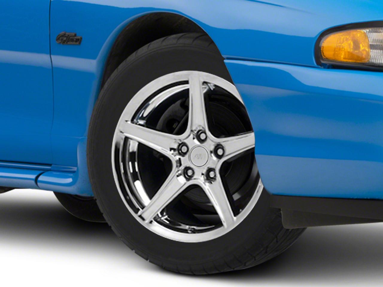 Saleen Style Chrome Wheel - 17x9 (94-04 All)
