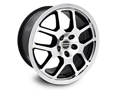 2007 GT500 Style Black Machined Wheel - 18x9.5 (05-14 All)