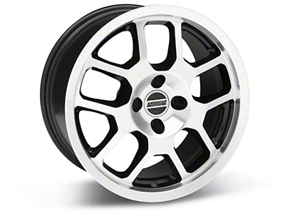 2007 GT500 Style Black Machined Wheel - 17x9 (87-93; Excludes 93 Cobra)