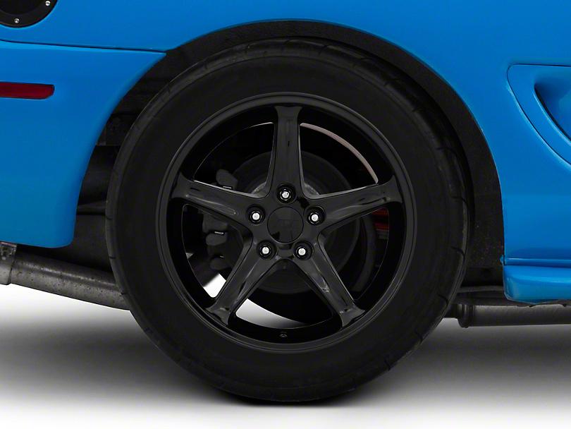 1995 Cobra R Style Black Wheel - 17x10.5 (94-04 All)