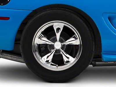Deep Dish Bullitt Chrome Wheel - 17x10.5 (94-04 All)