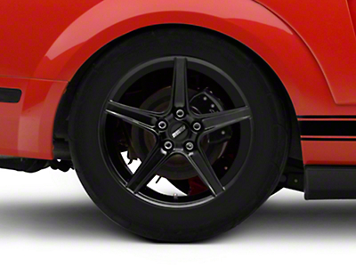 Saleen Style Black Wheel - 18x10 (05-14 GT, V6)