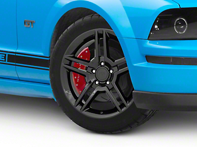 Black 2010 Style GT500 Wheel - 18x9 (05-14 All)