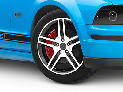 Black Machined 2010 Style GT500 Wheel - 18x9 (05-14 All)