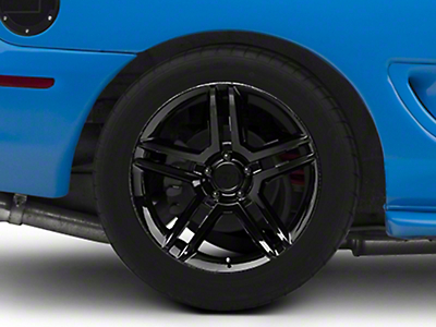 Black 2010 Style GT500 Wheel - 18x10 (94-04 All)