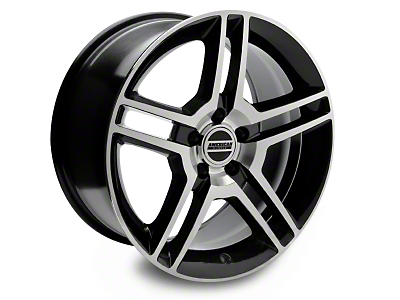 Black Machined 2010 Style GT500 Wheel - 18x10 (94-04 All)
