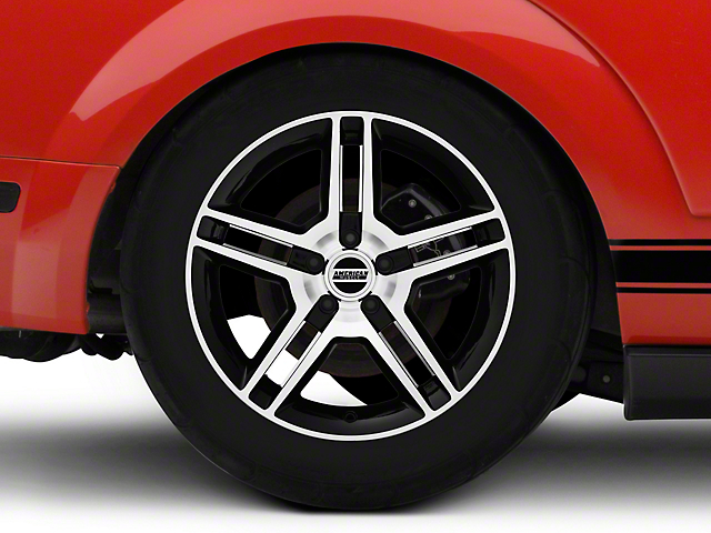 2010 GT500 Style Black Machined Wheel - 18x10 (05-14 All)