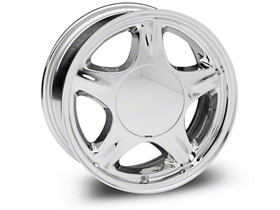 Chrome Pony Wheel - 16x7 (87-93; Excludes 93 Cobra)