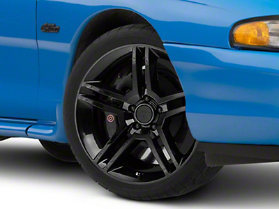 Black 2010 Style GT500 Wheel - 19x8.5 (94-04 All)