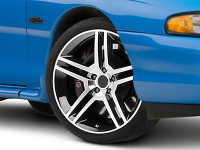 2010 GT500 Black Machined Wheel - 19x8.5 (94-04 All)