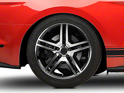 2010 GT500 Style Black Machined Wheel - 19x10 (15-16 All)