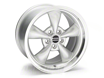 Deep Dish Bullitt Silver Wheel - 17x10 (05-14 V6; 05-10 GT, Excluding GT500)