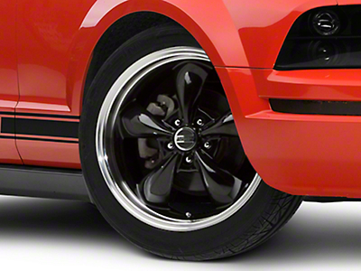 Deep Dish Bullitt Black Wheel - 19x8.5 (05-14 All, Excluding GT500)