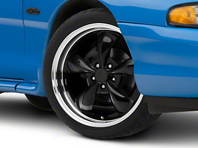 Black Deep Dish Bullitt Wheel - 19x8.5 (94-04 All)