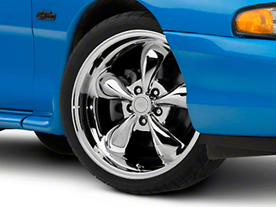 Chrome Deep Dish Bullitt Wheel - 19x8.5 (94-04 All)