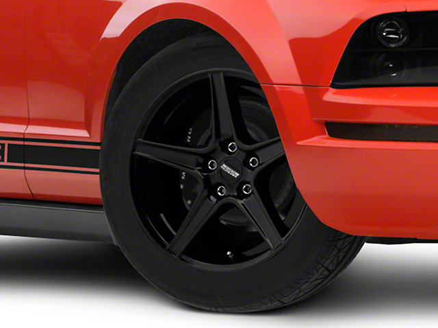Saleen Style Black Wheel - 18x9 (05-14 GT, V6)