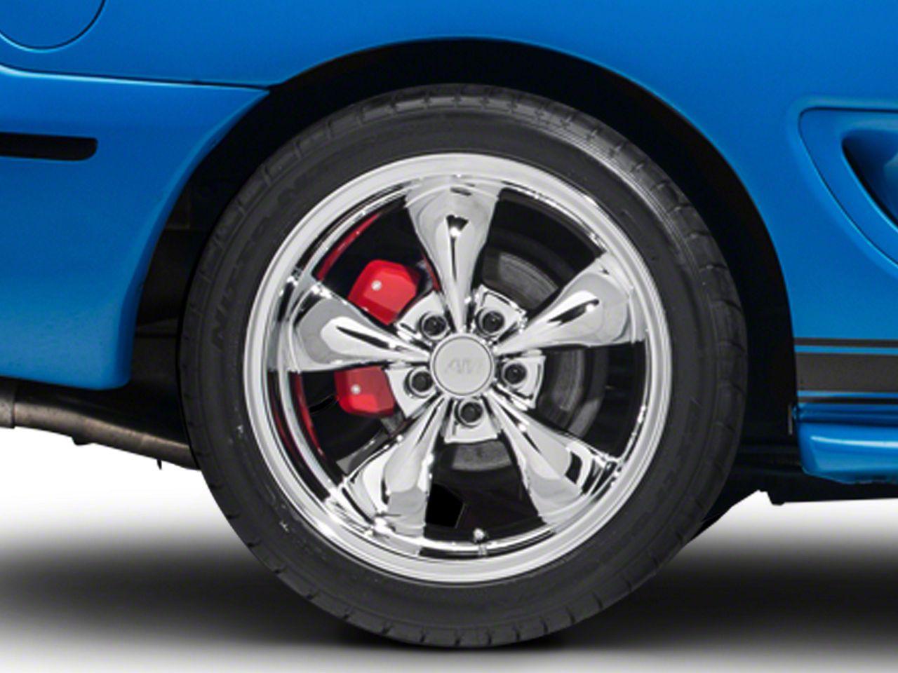Add Deep Dish Bullitt Chrome Wheel - 18x10 (94-04 All)