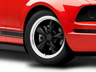 Bullitt Matte Black Wheel - 17x8 (05-14 V6; 05-10 GT, Excluding GT500)