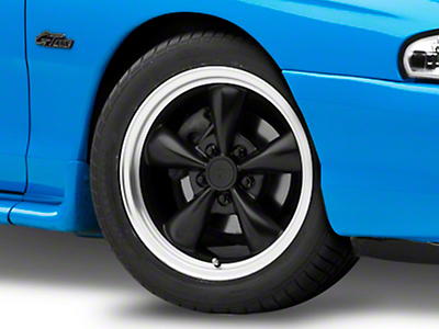 Matte Black Bullitt Wheel 17x8 (94-04 All)