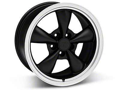 Bullitt Matte Black Wheel - 17x9 (05-14 V6; 05-10 GT, Excluding GT500)