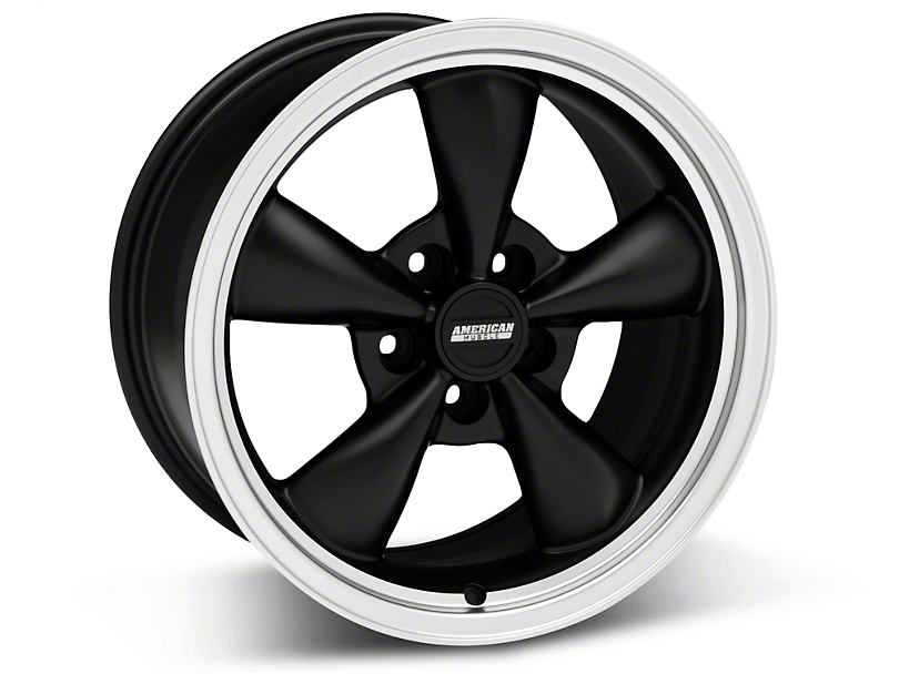 Bullitt Matte Black Wheel - 17x9 (87-93 5 Lug Conversion)