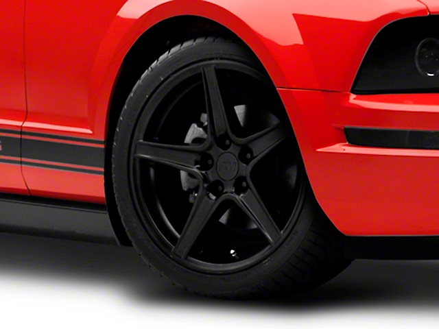 Saleen Style Matte Black Wheel - 18x9 (05-14 GT, V6)