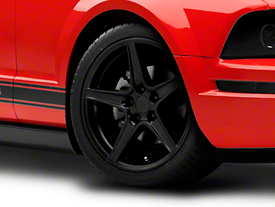 Matte Black Saleen Style Wheel - 18x9 (05-14 GT, V6)