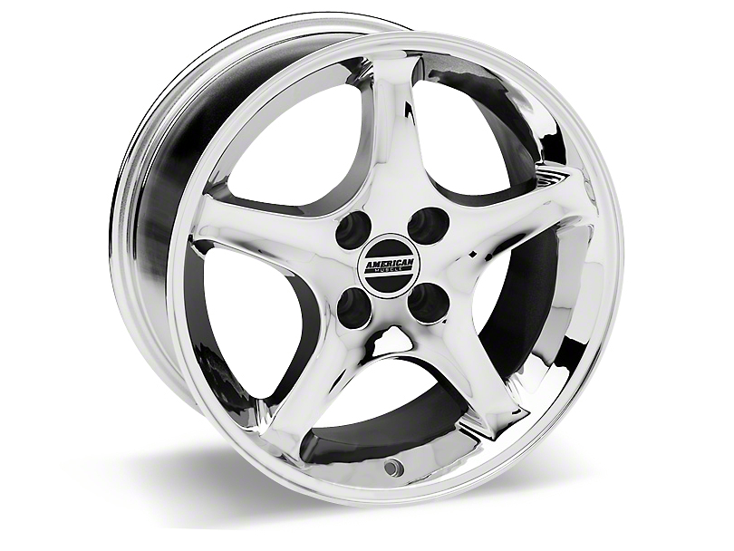 1995 Cobra R Style Chrome Wheel - 17x10 (87-93; Excludes 93 Cobra)