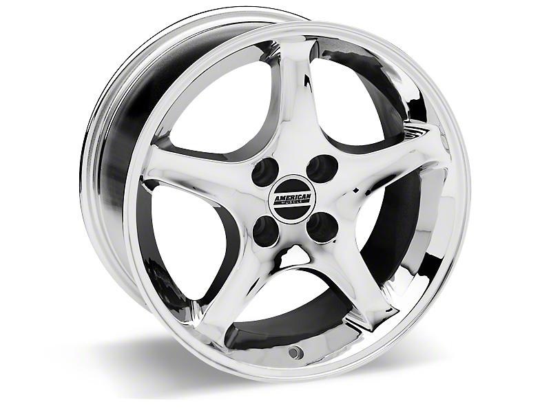 1995 Cobra R Style Chrome Wheel - 17x10 (87-93; Excludes 93 Cobra)