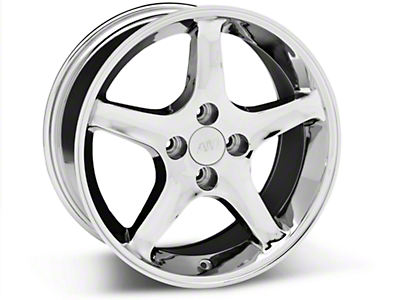 Chrome 1995 Style Cobra R Wheel - 17x8 (87-93; Excludes 93 Cobra)