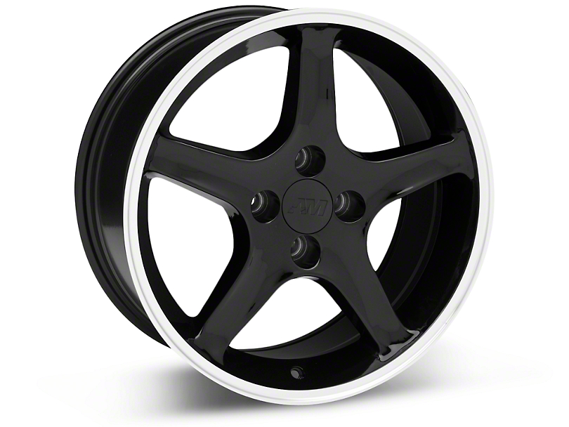 1995 Cobra R Style Black Wheel - 17x8 (87-93; Excludes 93 Cobra)