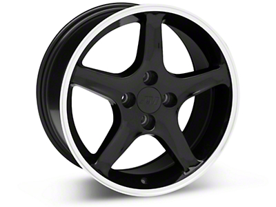 Black 1995 Style Cobra R Wheel - 17x8 (87-93; Excludes 93 Cobra)