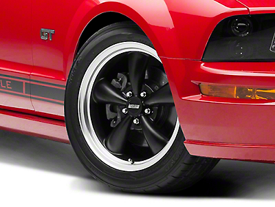 Bullitt Matte Black Wheel - 18x8 (05-14 All, Excluding GT500)