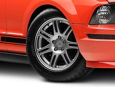 Anthracite 10th Anniversary Cobra Style Wheel - 17x9 (05-14 GT, V6)