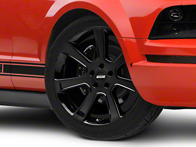 Black S197 Saleen Style Wheel 20x9 (05-14 All)