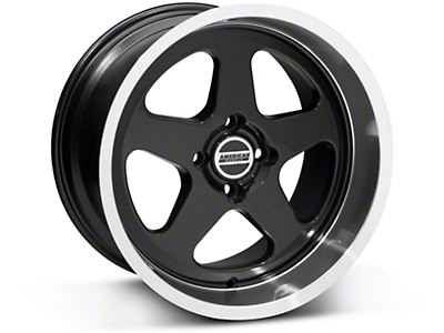 Black SC Style Wheel - 17x10 (87-93; Excludes 93 Cobra)