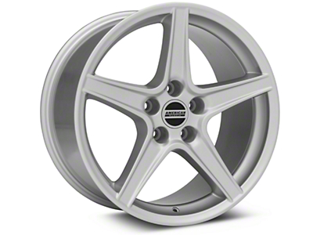 Saleen Style Silver Wheel - 18x10 (05-14 GT, V6)