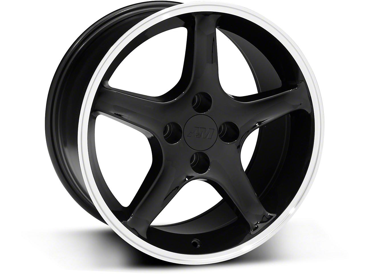 1995 Cobra R Style Black Wheel - 17x9 (87-93; Excludes 93 Cobra)