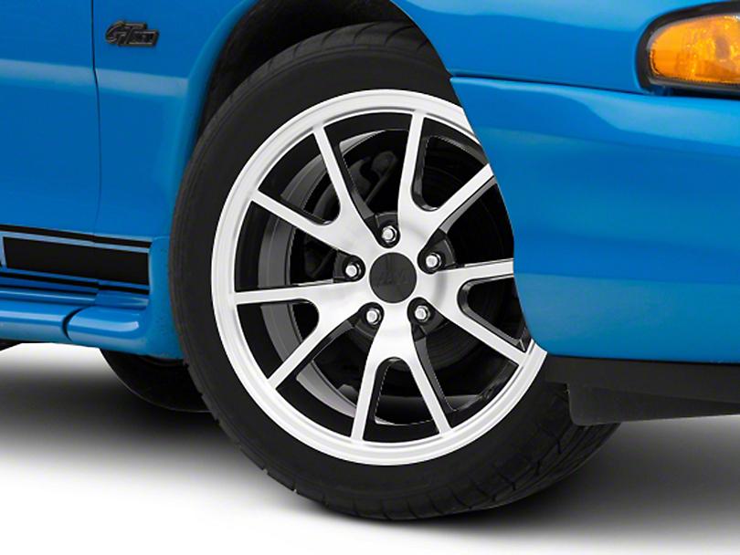 FR500 Style Black Machined Wheel - 17x9 (94-04 All)