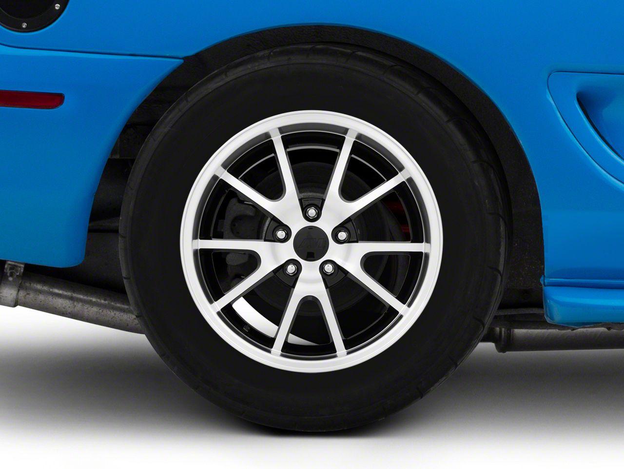 Add Deep Dish FR500 Style Black Machined Wheel - 17x10.5 (94-04 All)