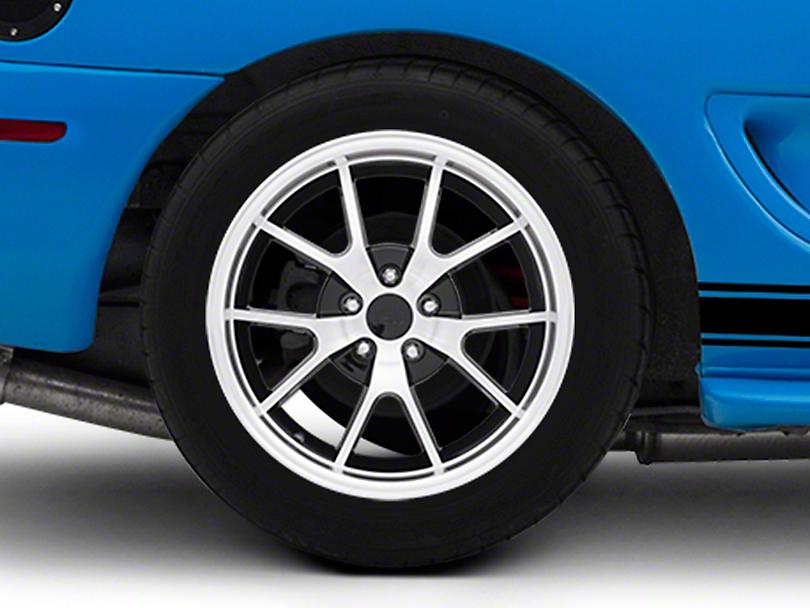 Deep Dish FR500 Style Black Machined Wheel - 18x10 (94-04 All)