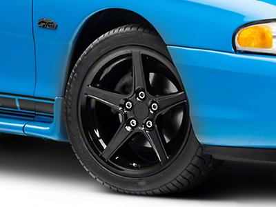 Saleen Style Black Wheel - 17x9 (94-04 All)