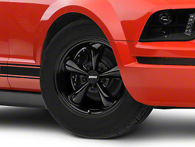 Bullitt Solid Black Wheel - 17x8 (05-14 V6; 05-10 GT, Excluding GT500)
