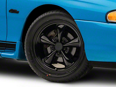 Solid Black Bullitt Wheel - 17x8 (94-04 All)