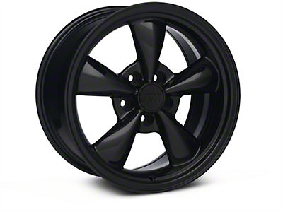 Bullitt Solid Black Wheel - 17x9 (05-14 V6; 05-10 GT, Excluding GT500)