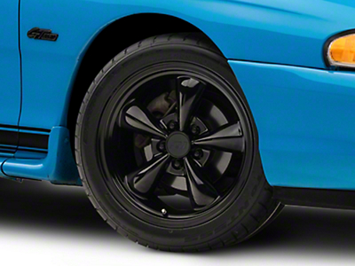 Solid Black Bullitt Wheel - 17x9 (94-04 All)