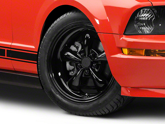 Deep Dish Bullitt Solid Black Wheel - 18x9 (05-10 GT; 05-14 V6)