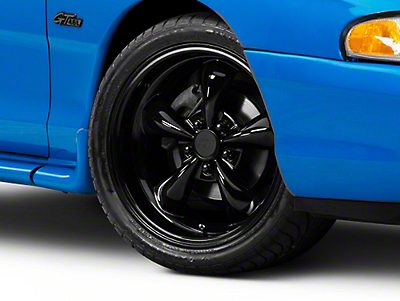 Solid Black Deep Dish Bullitt Wheel - 18x9 (94-04 All)